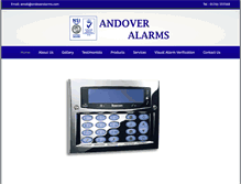 Tablet Preview of andoveralarms.co.uk